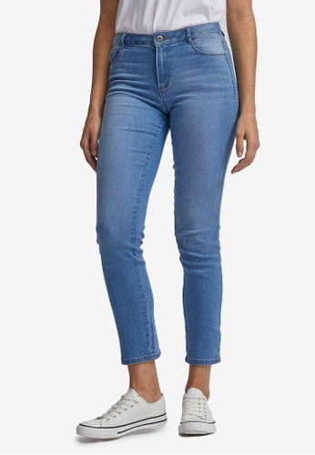 Dorothy Perkins Womens Light Wash Regular Length Ellis Slim Jeans