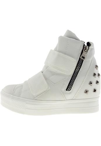 Maxstar 白色 新款韩国鞋C2-Belt-TC時尚皮革布混合女白色 US Women Size MA345SH56HCPTW_1