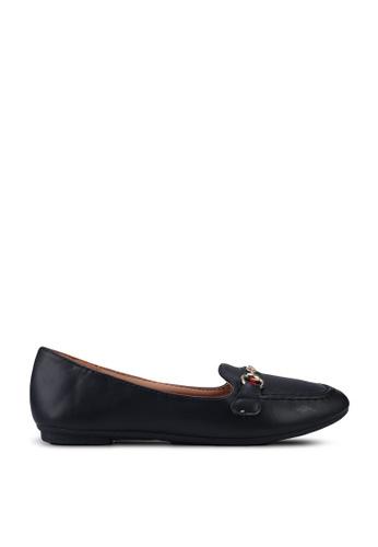 NOVENI 黑色 Stripe Loafers 67855SH0D984D6GS_1