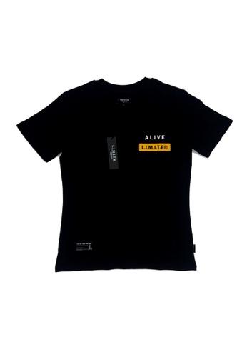 L.I.M.I.T.E 黑色 全棉雙刺繡章Tee 6251BAA4ED5833GS_1