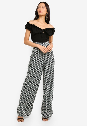 dc16d0f8e4eb4 Shop MISSGUIDED Milkmaid Tie Front Bardot Crop Top Online on ZALORA  Philippines