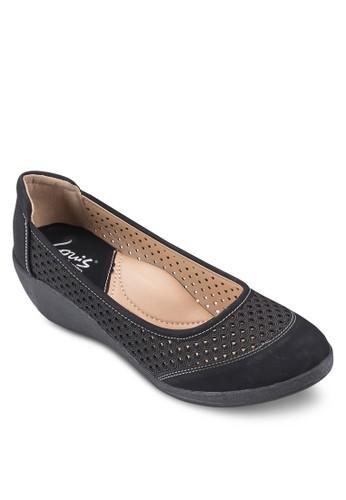 鏤空中低跟楔型跟鞋, 女esprit 旺角鞋, 鞋