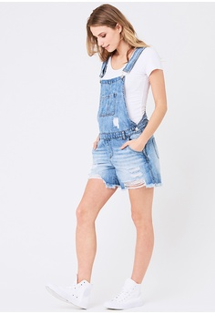 5569169235d3 Ripe Maternity Maternity Denim Short Overalls S  135.90. Sizes XS S M L