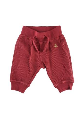GAP red Baby Mix & Match Waffle Knit Pull-On Pants 29BB8KA7389C87GS_1