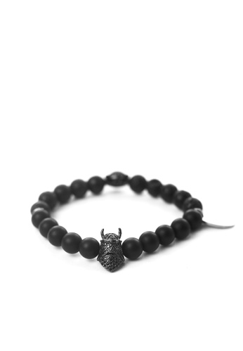 Gnome and Bow black Knightclaw Bracelet 0DFDDAC20438A4GS_1
