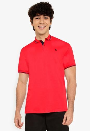 Jack & Jones red Jersey Polo Short Sleeves Shirt F9738AADB5025CGS_1