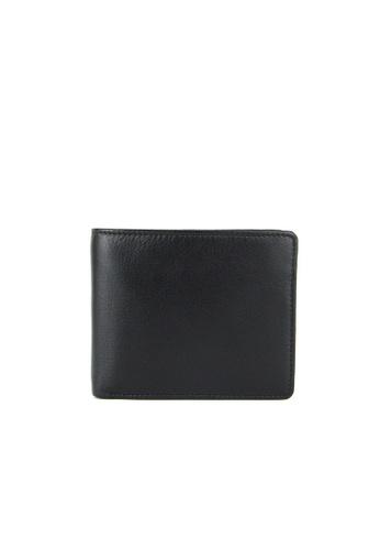 Alef black Alef Colson Slim Bifold Wallet with Card Window in Black AA027AC679745FGS_1
