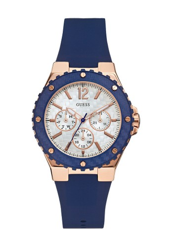 Guess Watch navy Guess Jam Tangan Wanita - Blue Rosegold - Rubber - W0149L5 6D809ACEC61776GS_1