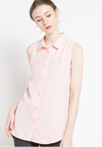 WHITEMODE pink Lucia Blouse WH193AA07NIUID_1