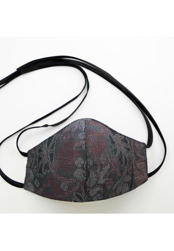 Bewa grey Tie Back - Songket Mask (Dark Grey) 3FBFCES1D96186GS_1