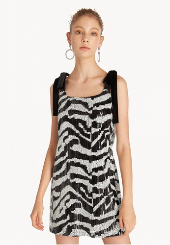 100757558bb Buy Pomelo Mini Zebra Sequin Dress Online on ZALORA Singapore
