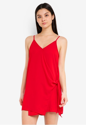 Cotton On red Woven Margot Wrap Slip Dress 3DAF6AA40C6F3CGS_1
