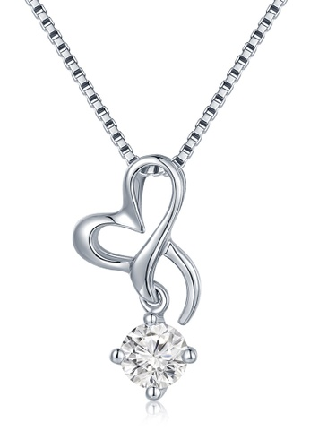 Buy mabelle 18k white gold ribbon bow single diamond pendant with mabelle silver 18k white gold ribbon bow single diamond pendant with sterling silver chain 16 aloadofball Image collections