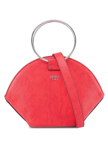 Guess red Keaton Crescent Top Handle Bag DC98CAC045C999GS_1