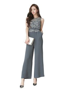 893b60f152f Sunnydaysweety grey 2018 New Grey Lace Top Jumpsuit CA043020  0A5E9AA187FBF7GS 1