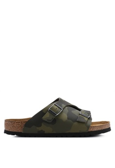8f99d063ee2 Birkenstock green Zurich Desert Soil Camou Soft Footbed Sandals  C8F91SHE3F0B71GS 1