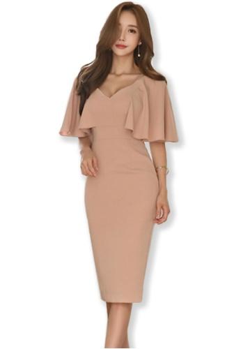 Sunnydaysweety pink Batwig V-neck One Piece Midi Dress UA092037-0 DDE45AAD0B0B73GS_1