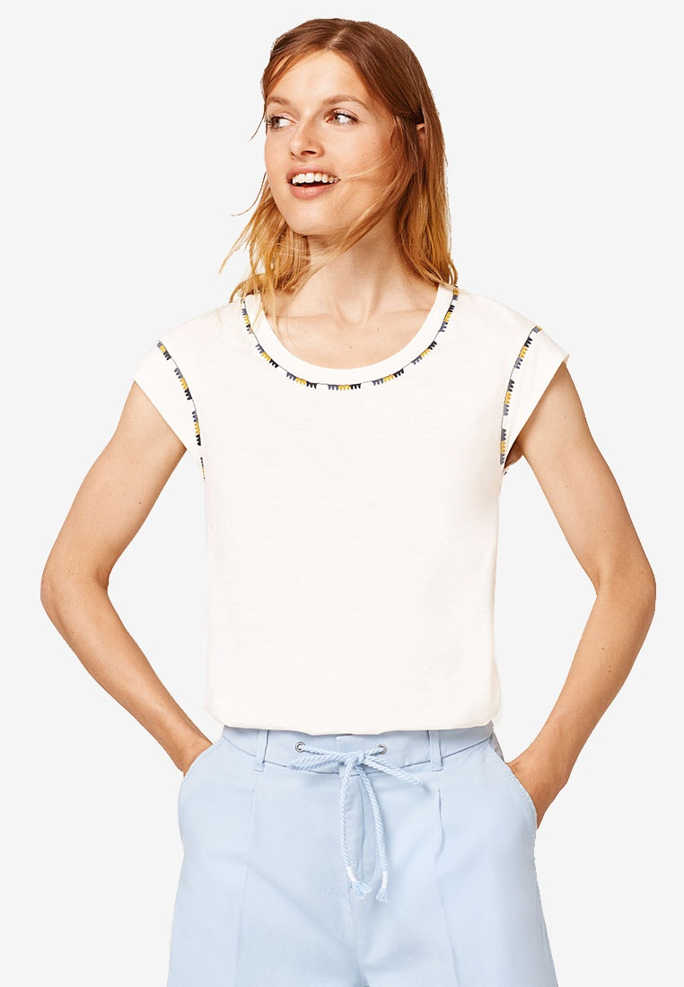 Off Top White ESPRIT White Top ESPRIT Embroidery Off ESPRIT Embroidery trpPwqf
