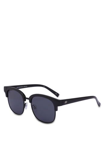 Le Specs black Recognition 1802166 Sunglasses B1515GLD65F102GS_1