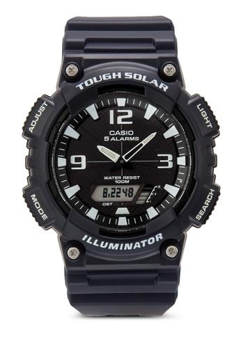 Casio blue Casio Men's AQ-S810W-2A2VDF Tough Solar Analog-Digital Display Dark Blue Watch CA843AC89XZAMY_1