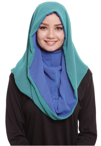 Mybamus Two Tone Daily Hoodie Blue-Tosca