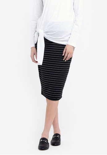 Ripe Maternity black Maternity Lizzy Ponte Skirt B2463AAAF75E44GS_1