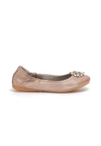 Shu Talk 粉紅色 新款閃石舒適平底芭蕾舞鞋 7ED02SH7509DEBGS_1