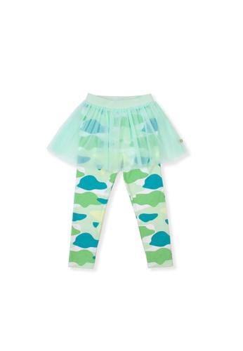 OETEO green and multi Camo Flash Tulle Skirt Leggings (Green) ABE32KAEF3DEB2GS_1