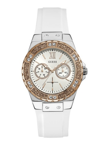 Guess Watches pink and silver Ladies Sport Watch W1053L2 75FE4AC9349A60GS_1