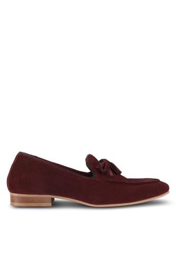 Acuto brown Suede Tassel Loafers AC283SH0SL7EMY_1