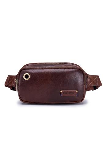 24c0670c68bc ENZODESIGN brown Vintage Buffalo Waist Bag Chest Bag SG10550BRN  8C462AC497C4CAGS 1