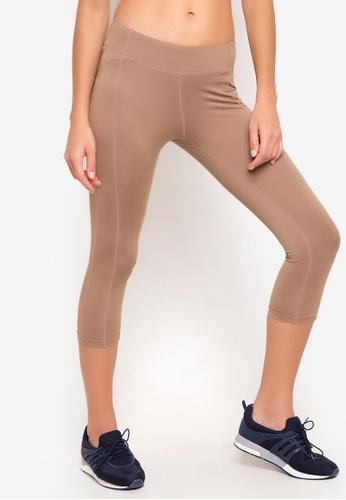 Danskin brown Yoga Collection Skin Fit Capri Leggings DA964AA32CZVPH_1