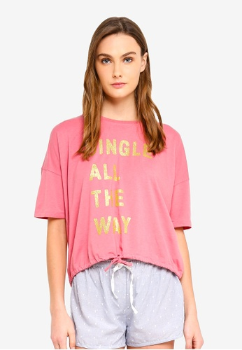 Cotton On Body pink Jersey Tie T-Shirt 58822AA0DEF6A9GS_1