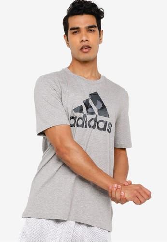 ADIDAS grey essentials t-shirt 003DBAA89BBB6CGS_1