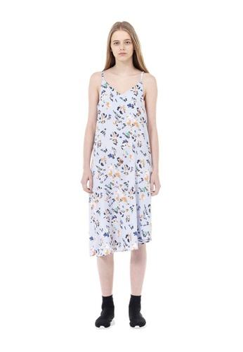 VOV(Voice of Voices) blue Blue Floral-Print Bustier Dress 07C3CAA0E48BE0GS_1