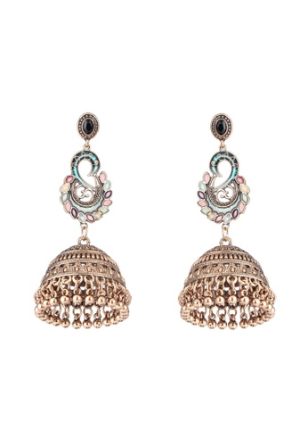 f5e4d4fe1028b Colour Jhumka Dangle Earrings