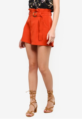 ZALORA orange Flare Shorts 96ACEAAF35A0F5GS_1