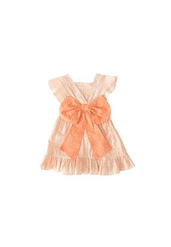 YeoMama Batik orange Solid Coral Batik Bow Dress 2A435KA896C74CGS_1