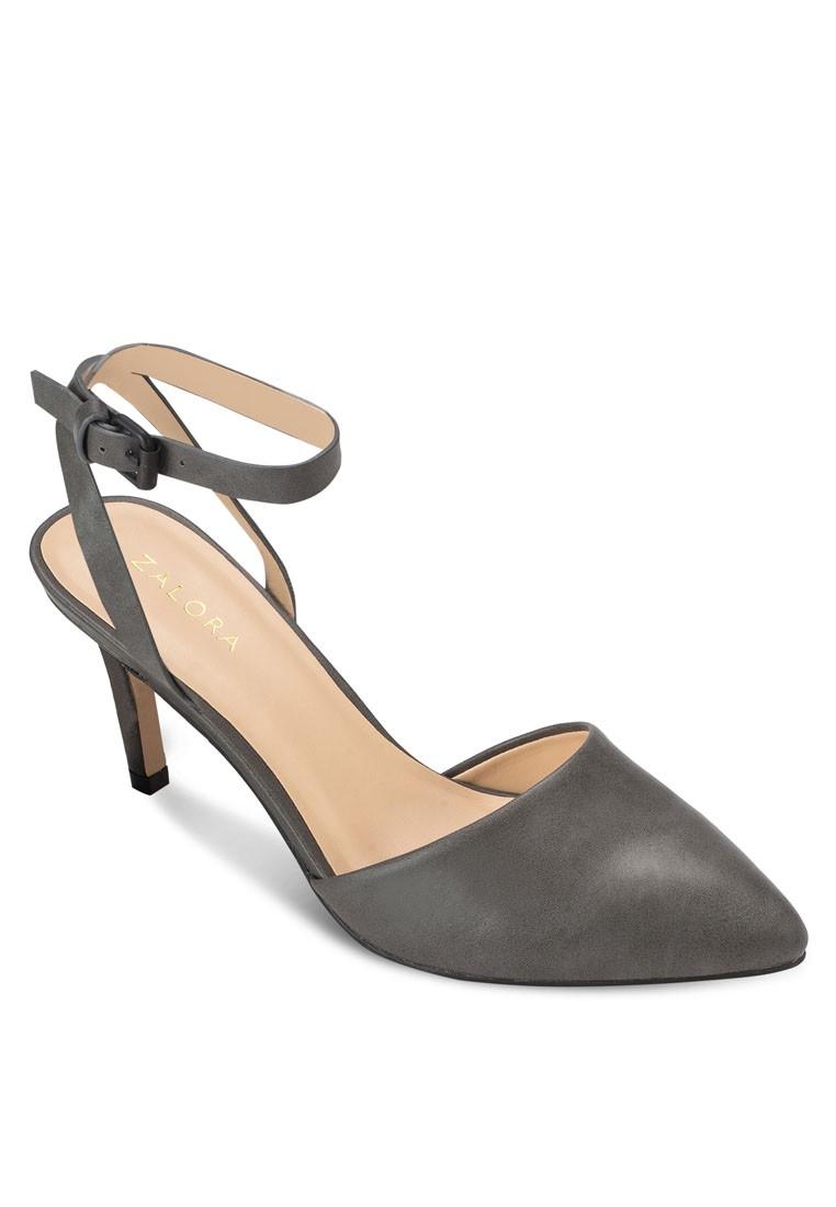Basic Ankle Strap Heel Pumps