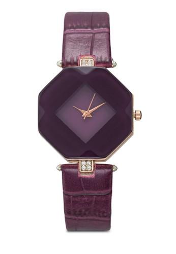 棱柱體仿esprit專櫃皮鱷魚紋手錶, 錶類, 時尚型