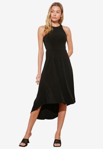 Trendyol black Halter Neck Midi Swing Dress 26763AAA573866GS_1