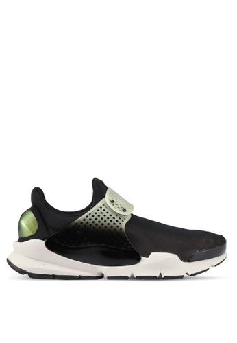 Nike black and white and beige Men's Nike Sock Dart SE Premium Shoes NI126SH0SFBIMY_1
