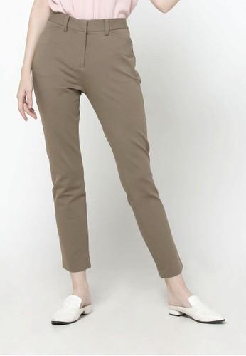 The Executive brown Mix Rayon Pants 26B5BAA3CC697FGS_1