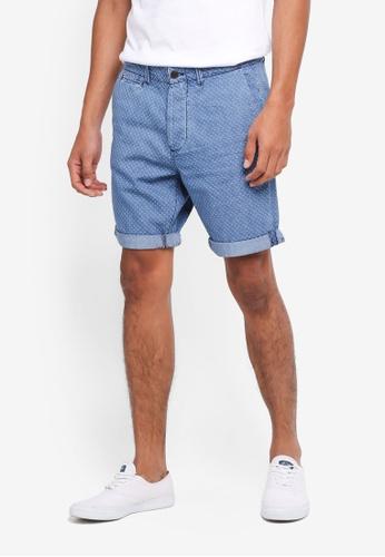 Jack & Jones blue Dobby Chino Shorts 25589AA31B9FF6GS_1