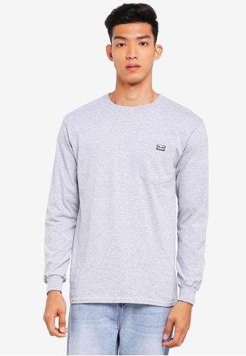 OBEY 灰色 口袋長袖T恤 19747AAF3BB51EGS_1