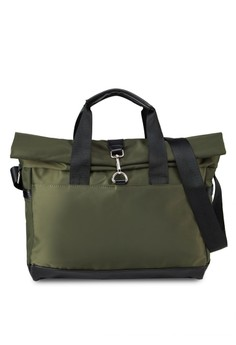 Fold-Down Tote With Frontal Clasp