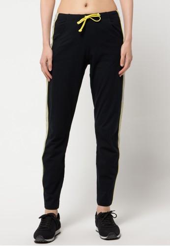 Lee Vierra black Long Pants Piping Bamboo LE768AA64KBBID_1