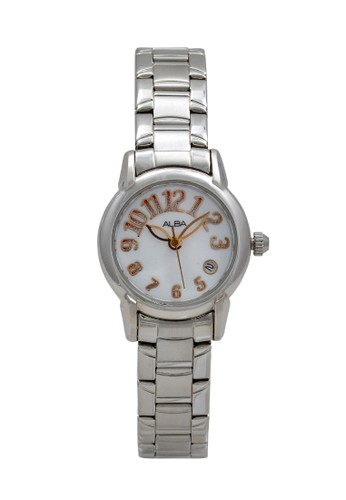 Alba silver ALBA Jam Tangan Wanita - Silver White Rosegold - Stainless Steel - AXT263 F9C09ACFE618FFGS_1