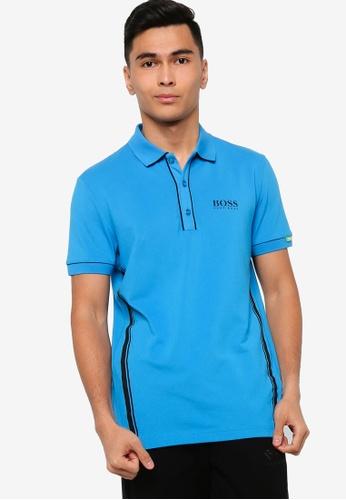 BOSS 藍色 Paddy MK 1 Polo Shirt B6FACAA713DB20GS_1