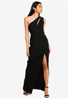 add5ddf8fc8 Vesper black Vesper Julianna One Shoulder Maxi Dress AA6E0AA18CC4A9GS 1